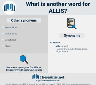 allis, synonym allis, another word for allis, words like allis, thesaurus allis