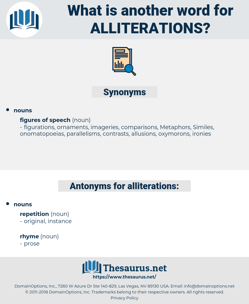 alliterations, synonym alliterations, another word for alliterations, words like alliterations, thesaurus alliterations