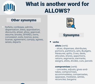 allows, synonym allows, another word for allows, words like allows, thesaurus allows
