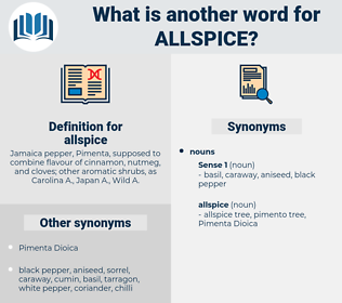 allspice, synonym allspice, another word for allspice, words like allspice, thesaurus allspice