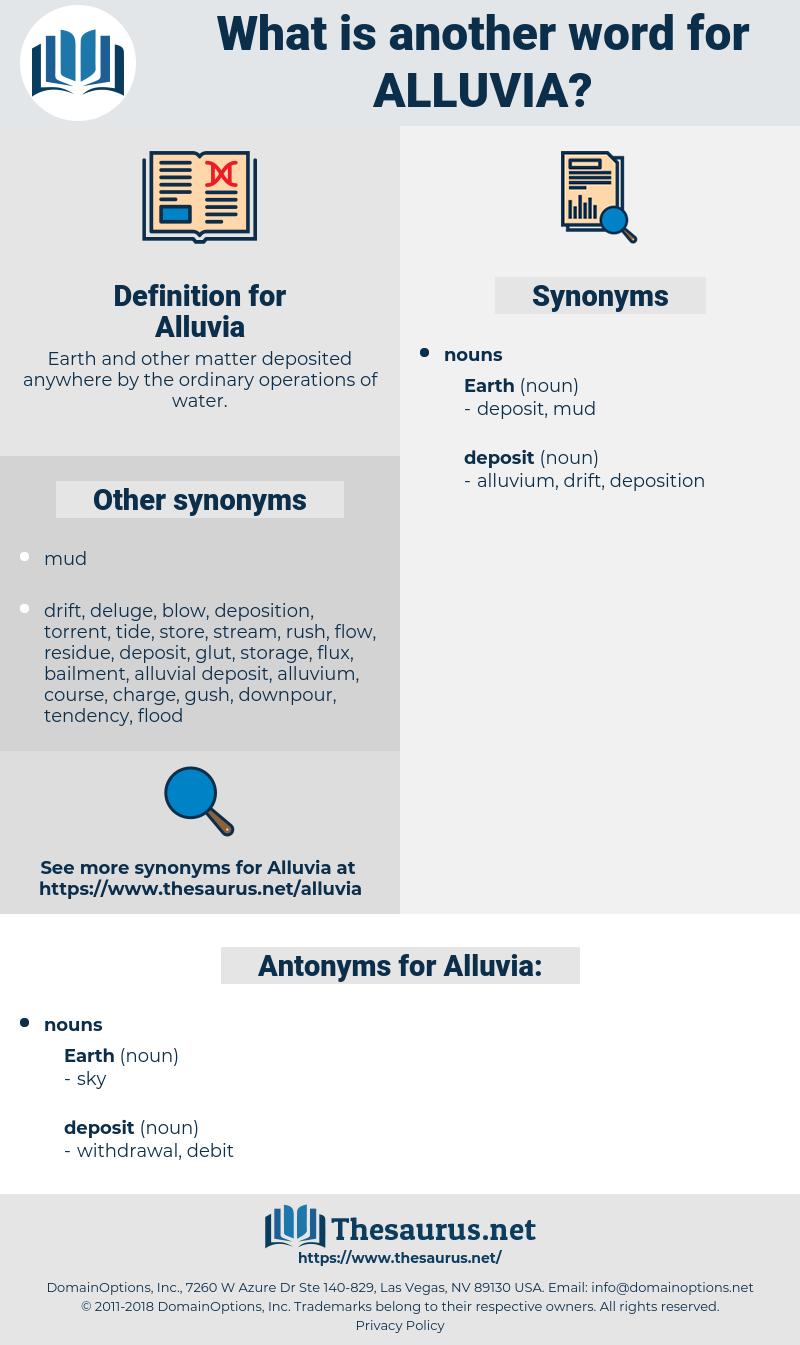 Alluvia, synonym Alluvia, another word for Alluvia, words like Alluvia, thesaurus Alluvia