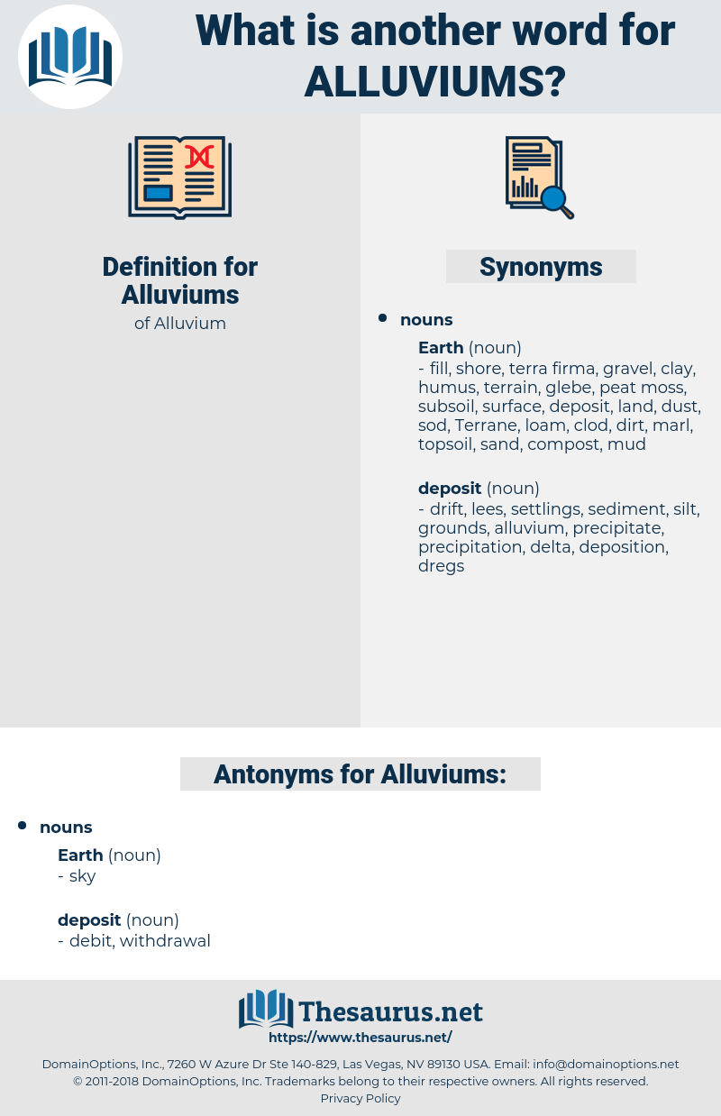 Alluviums, synonym Alluviums, another word for Alluviums, words like Alluviums, thesaurus Alluviums