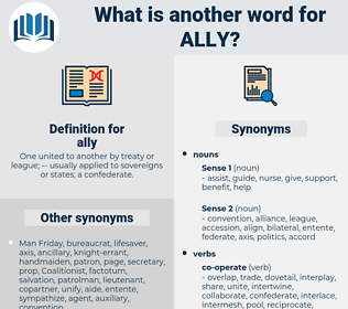 ally, synonym ally, another word for ally, words like ally, thesaurus ally
