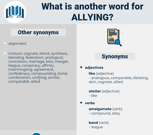 Allying, synonym Allying, another word for Allying, words like Allying, thesaurus Allying