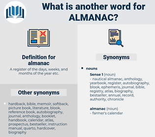 almanac, synonym almanac, another word for almanac, words like almanac, thesaurus almanac