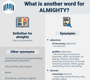 almighty, synonym almighty, another word for almighty, words like almighty, thesaurus almighty