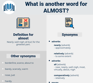 almost, synonym almost, another word for almost, words like almost, thesaurus almost