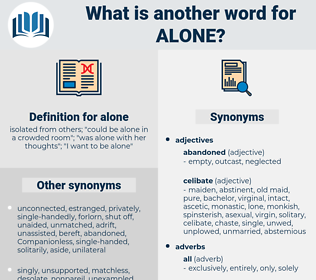 alone, synonym alone, another word for alone, words like alone, thesaurus alone