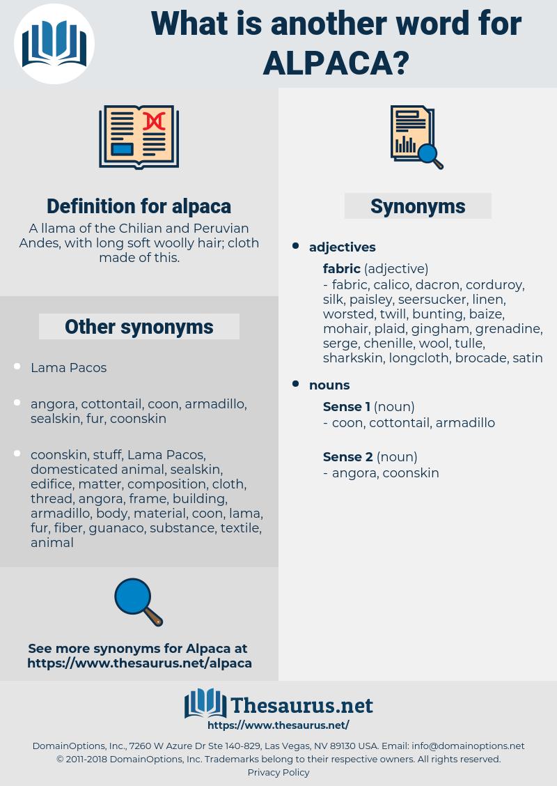 alpaca, synonym alpaca, another word for alpaca, words like alpaca, thesaurus alpaca