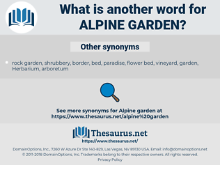 alpine garden, synonym alpine garden, another word for alpine garden, words like alpine garden, thesaurus alpine garden