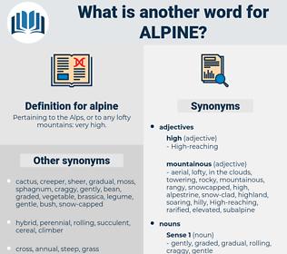 alpine, synonym alpine, another word for alpine, words like alpine, thesaurus alpine