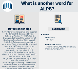 alps, synonym alps, another word for alps, words like alps, thesaurus alps
