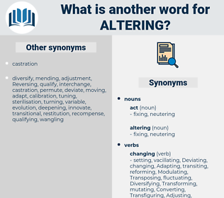 altering, synonym altering, another word for altering, words like altering, thesaurus altering