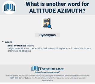 altitude azimuth, synonym altitude azimuth, another word for altitude azimuth, words like altitude azimuth, thesaurus altitude azimuth
