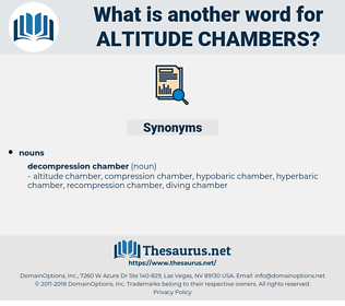 altitude chambers, synonym altitude chambers, another word for altitude chambers, words like altitude chambers, thesaurus altitude chambers