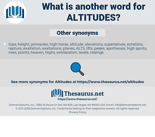 altitudes, synonym altitudes, another word for altitudes, words like altitudes, thesaurus altitudes