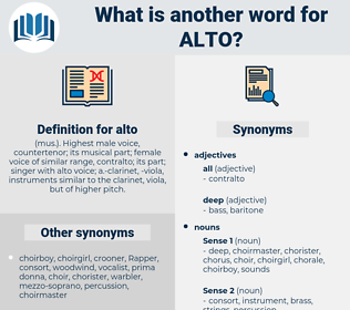 alto, synonym alto, another word for alto, words like alto, thesaurus alto