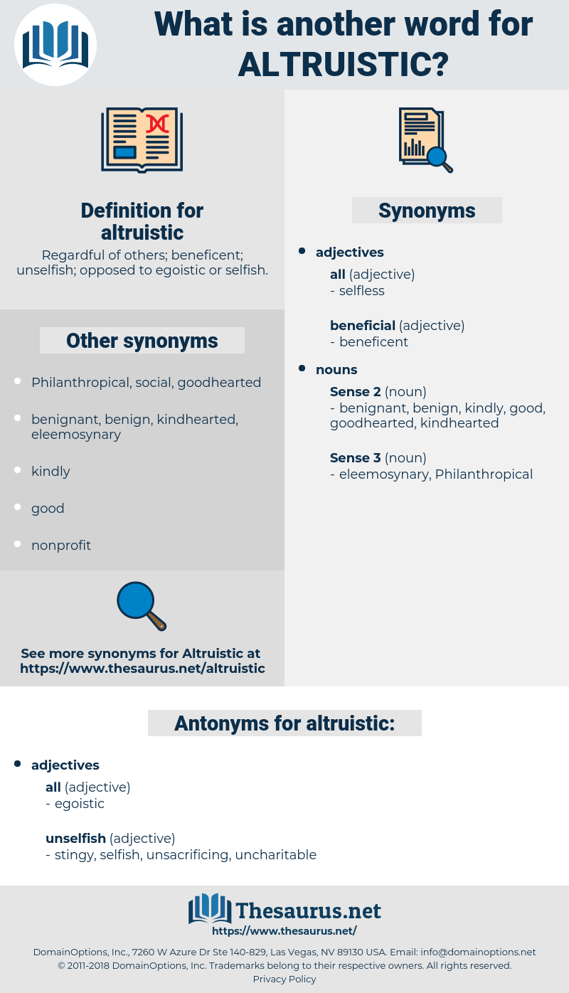 altruistic, synonym altruistic, another word for altruistic, words like altruistic, thesaurus altruistic