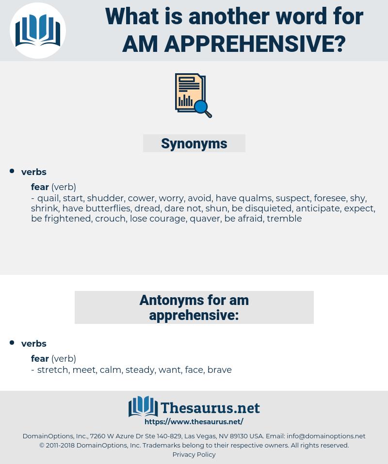 am apprehensive, synonym am apprehensive, another word for am apprehensive, words like am apprehensive, thesaurus am apprehensive