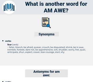 am awe, synonym am awe, another word for am awe, words like am awe, thesaurus am awe