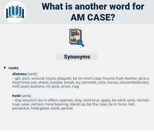 am case, synonym am case, another word for am case, words like am case, thesaurus am case