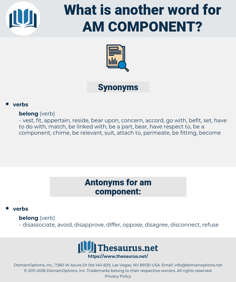 am component, synonym am component, another word for am component, words like am component, thesaurus am component