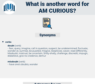 am curious, synonym am curious, another word for am curious, words like am curious, thesaurus am curious
