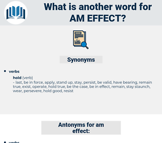 am effect, synonym am effect, another word for am effect, words like am effect, thesaurus am effect