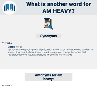 am heavy, synonym am heavy, another word for am heavy, words like am heavy, thesaurus am heavy