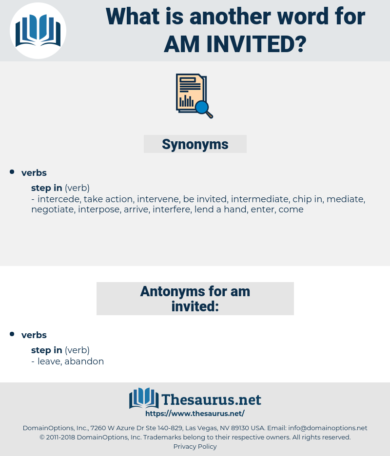 am invited, synonym am invited, another word for am invited, words like am invited, thesaurus am invited