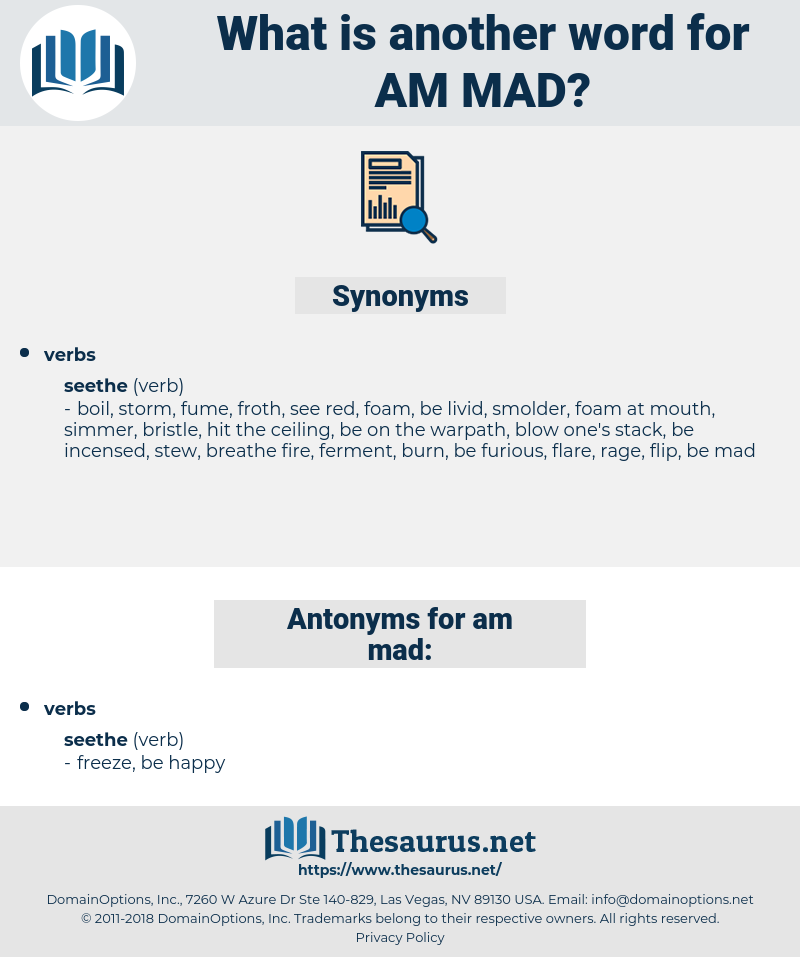 am mad, synonym am mad, another word for am mad, words like am mad, thesaurus am mad