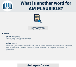 am plausible, synonym am plausible, another word for am plausible, words like am plausible, thesaurus am plausible