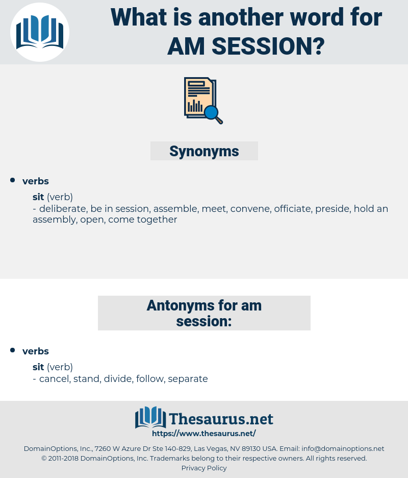 am session, synonym am session, another word for am session, words like am session, thesaurus am session