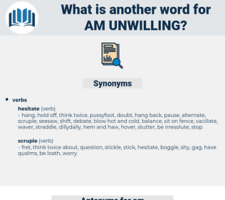 am unwilling, synonym am unwilling, another word for am unwilling, words like am unwilling, thesaurus am unwilling