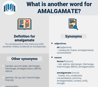 amalgamate, synonym amalgamate, another word for amalgamate, words like amalgamate, thesaurus amalgamate