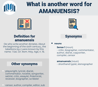 amanuensis, synonym amanuensis, another word for amanuensis, words like amanuensis, thesaurus amanuensis