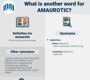amaurotic, synonym amaurotic, another word for amaurotic, words like amaurotic, thesaurus amaurotic