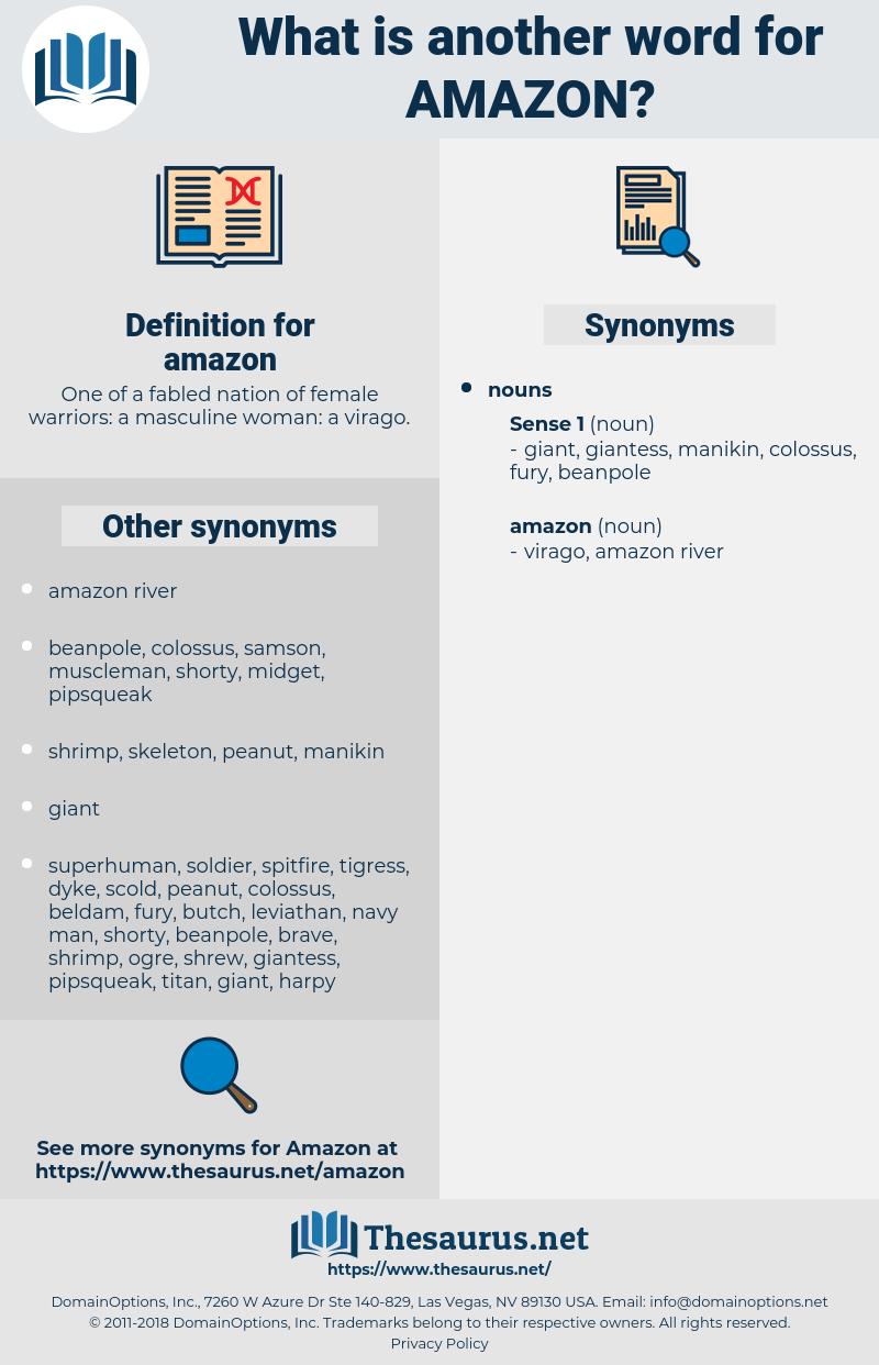 amazon, synonym amazon, another word for amazon, words like amazon, thesaurus amazon