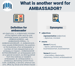 ambassador, synonym ambassador, another word for ambassador, words like ambassador, thesaurus ambassador
