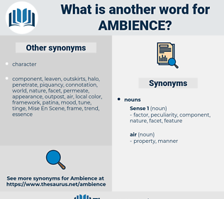 ambience, synonym ambience, another word for ambience, words like ambience, thesaurus ambience