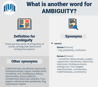 ambiguity, synonym ambiguity, another word for ambiguity, words like ambiguity, thesaurus ambiguity
