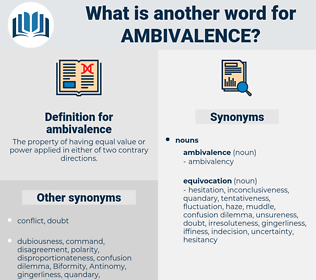 ambivalence, synonym ambivalence, another word for ambivalence, words like ambivalence, thesaurus ambivalence