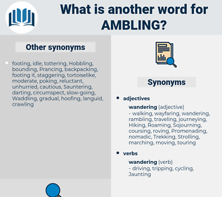 Ambling, synonym Ambling, another word for Ambling, words like Ambling, thesaurus Ambling