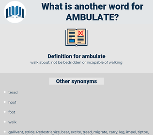 ambulate, synonym ambulate, another word for ambulate, words like ambulate, thesaurus ambulate