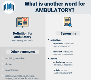 ambulatory, synonym ambulatory, another word for ambulatory, words like ambulatory, thesaurus ambulatory