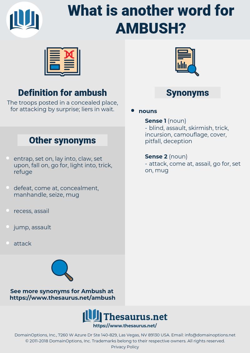 ambush, synonym ambush, another word for ambush, words like ambush, thesaurus ambush
