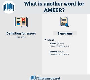 ameer, synonym ameer, another word for ameer, words like ameer, thesaurus ameer