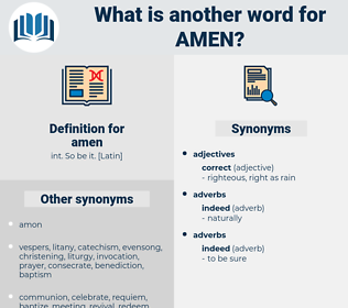 amen, synonym amen, another word for amen, words like amen, thesaurus amen