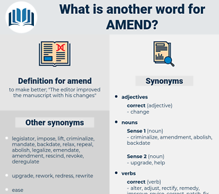 amend, synonym amend, another word for amend, words like amend, thesaurus amend