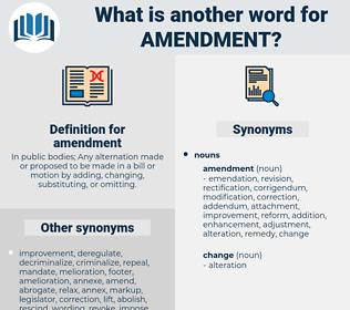 amendment, synonym amendment, another word for amendment, words like amendment, thesaurus amendment